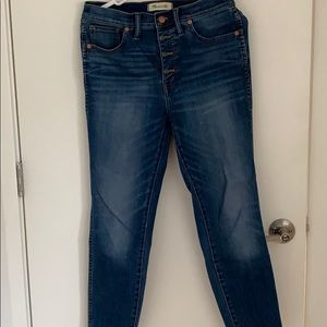 "Madewell 10"" High Rise Cropped Skinny Jeans"